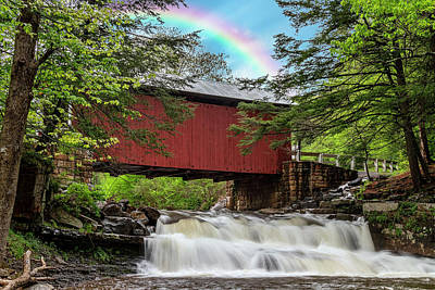 Photograph - Rainbow Over The Pack Saddle Bridge by Rusty Glessner