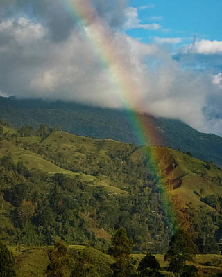 Photograph - Rainbow Over The Salento Valley Colombia by Adam Rainoff