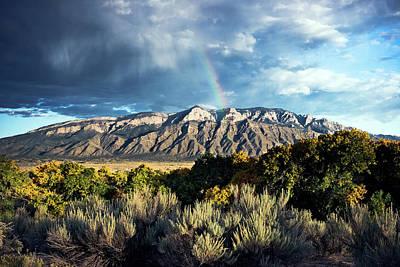 Photograph - Rainbow Over The Sandias by Howard Holley