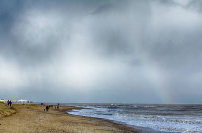 Photograph - Rainbow Over The Sea by Leah Palmer