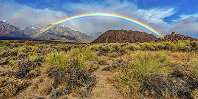 Photograph - Rainbow Over The Sierra by Peter Tellone