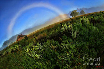 Photograph - Rainbow Over Thomas Alma And Lucille Moulton Homestead by Blake Richards