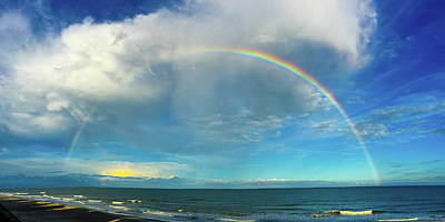 Photograph - Rainbow Over Topsail Island by John Pagliuca