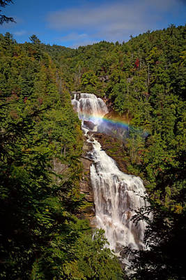 Digital Art - Rainbow Over Whitewater Falls by John Haldane