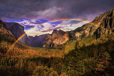 Photograph - Rainbow Over Yosemite by Andrew Soundarajan