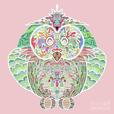 Rainbow Owl Art Print by Absentis Designs