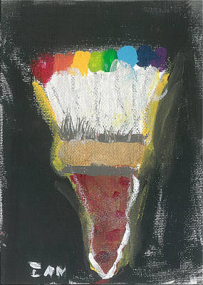 Painting - Rainbow Paintbrush by Ian Reynolds