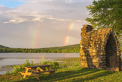 Photograph - Rainbow Picnic At Wickham Lake by Angelo Marcialis