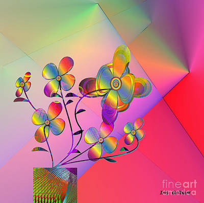 Digital Art - Rainbow Plant by Iris Gelbart