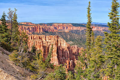 Photograph - Rainbow Point Overlook by John M Bailey