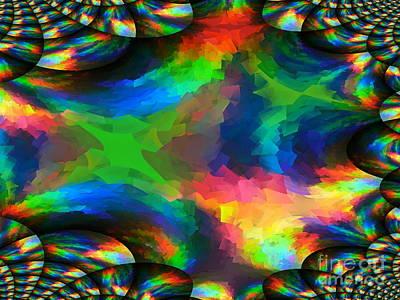 Post It Digital Art - Rainbow Post-it Explosion by Lilian F Norris