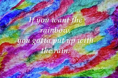 Painting - Rainbow Rain by Joan Reese
