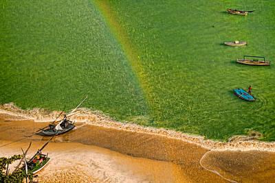 Art Print featuring the photograph Rainbow Rain by Kim Wilson
