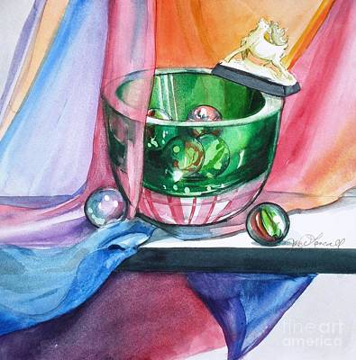 Painting - Rainbow Raindeer by Jane Loveall