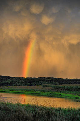 Photograph - Rainbow Reflection by Emily Stauring