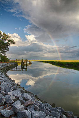Photograph - Rainbow Reflection by Patricia Schaefer