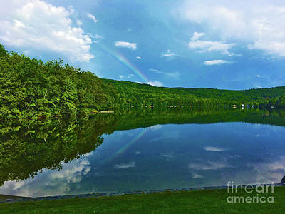 Photograph - Rainbow Reflection by Ruth H Curtis