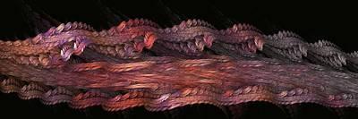 Digital Art - Rainbow Ribbons by Doug Morgan
