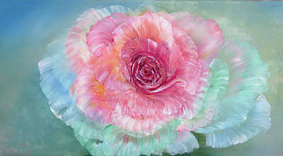 Painting - Rainbow Rose by Ann Marie Bone