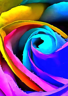 Photograph - Rainbow Rose by Munir Alawi