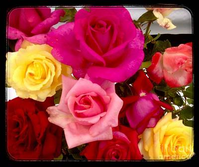 Photograph - Rainbow Roses by Joan-Violet Stretch
