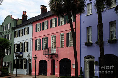 Photograph - Rainbow Row Charleston by Christiane Schulze Art And Photography