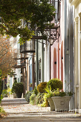 South Photograph - Rainbow Row Charleston Sc 2 by Dustin K Ryan