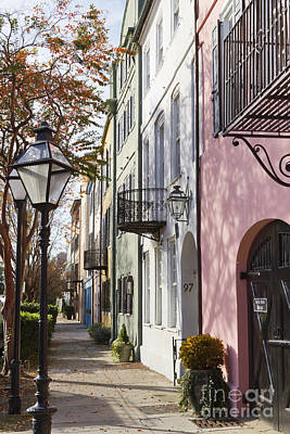 Bay Photograph - Rainbow Row Charleston Sc 3 by Dustin K Ryan
