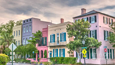Photograph - Rainbow Row Charleston South Carolina by Dale Powell
