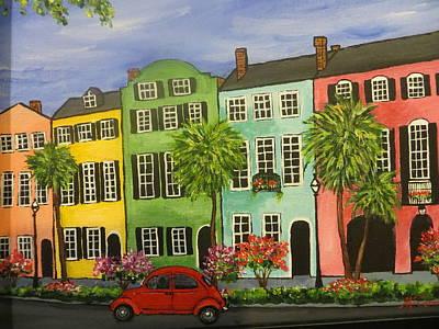Rainbow Row Painting - Rainbow Row, Charleston by Susan McCarrick