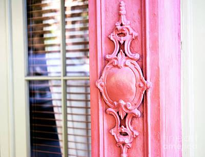 Photograph - Charleston Rainbow Row Details by John Rizzuto