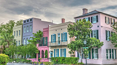 Photograph - Rainbow Row In Historic Downtown Charleston South Carolina by Dale Powell