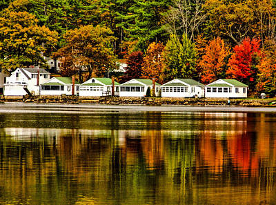 Photograph - Rainbow Row - Newfound Lake by Naturally NH