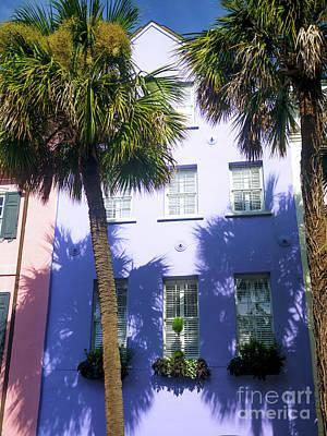 Photograph - Rainbow Row Purple Charleston by John Rizzuto