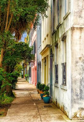 Photograph - Rainbow Row Sidewalk View - 1 by Frank J Benz