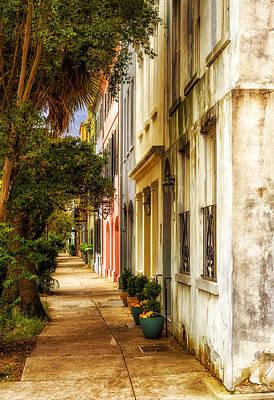 Photograph - Rainbow Row Sidewalk View - 2 by Frank J Benz