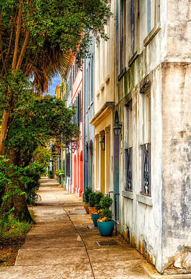 Photograph - Rainbow Row Sidewalk View - 3 by Frank J Benz