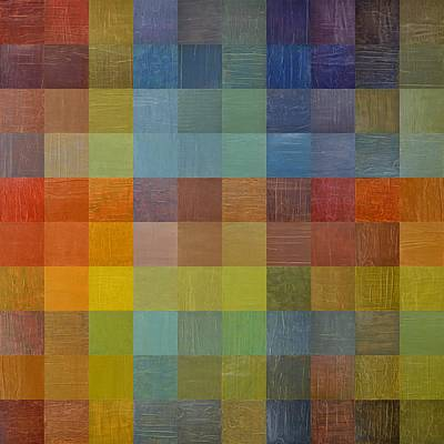 Block Quilts Painting - Rainbow Rustic by Michelle Calkins