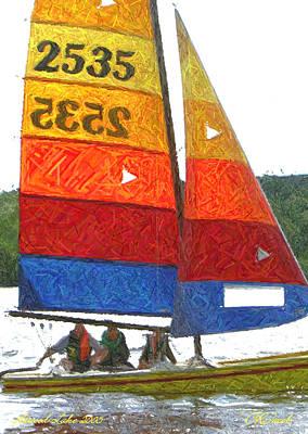 Photograph - Rainbow Sails by Carolyn Jacob