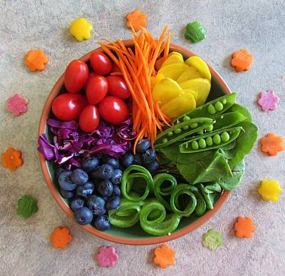 Photograph - Rainbow Salad Bowl I by Beverley Noseworthy