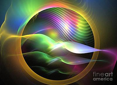 Chakra Rainbow Digital Art - Rainbow Seagulls by Kim Sy Ok