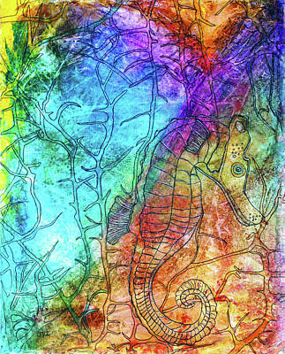 Rainbow Seahorse Art Print