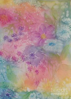 Painting - Wildflowers Abstract - Rainbow Sherbert by Ellen Levinson