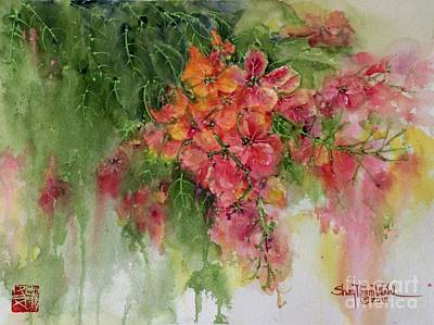 Wet On Wet Painting - Rainbow Showers by Shay Wahl