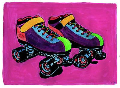Rainbow Skates Original by Brandy Devoid