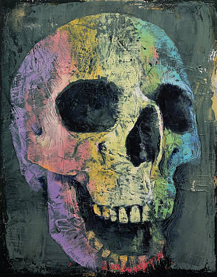 Skull Painting - Happy Skull by Michael Creese
