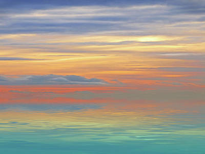 Photograph - Rainbow Sky Reflections by Gill Billington