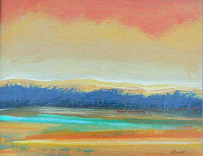 Wall Art - Painting - Rainbow Sky by Sally Huss