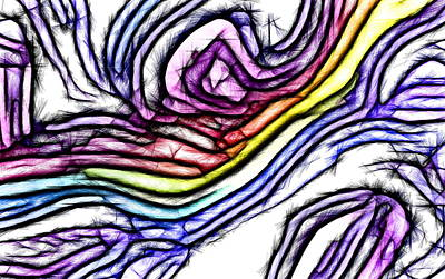 Rainbow Slide 1 Art Print