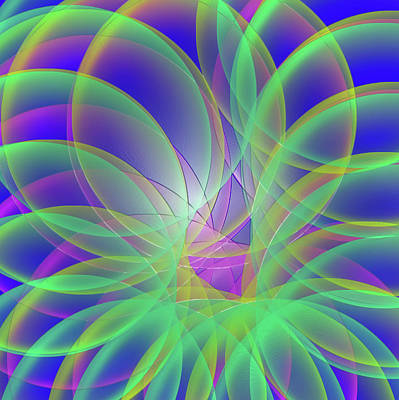Abstract Digital Art - Rainbow Slinky by Tod and Cynthia Grubbs